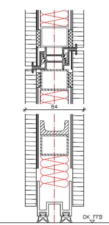 Tür vertikalschnitt  Details E 8